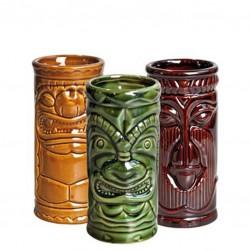 Pahar TIKI - HOME PACK, 3buc/ set (Ceramic)