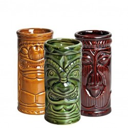 Pahar TIKI - Set 3 buc, 250ml (Ceramic)