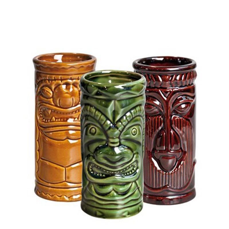 Pahar TIKI - 3buc/ set, 250ml (Ceramic)