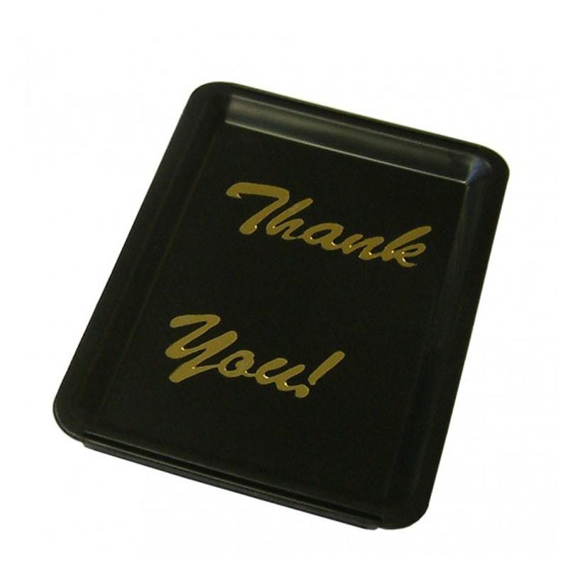 Black Plastic Tip Tray - THANK YOU