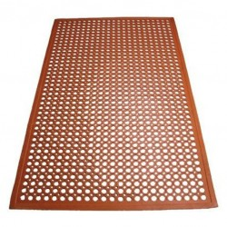 Floor Mat (RED) Rubber - 152 .5 * 92 .5cm