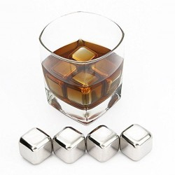 Cuburi Metal, Set 4 buc - Whisky Rocks