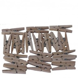 Wooden Pegs 25mm, 100pcs -...