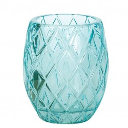 Candle Holder - Sprayed TURQUOISE (Glass)