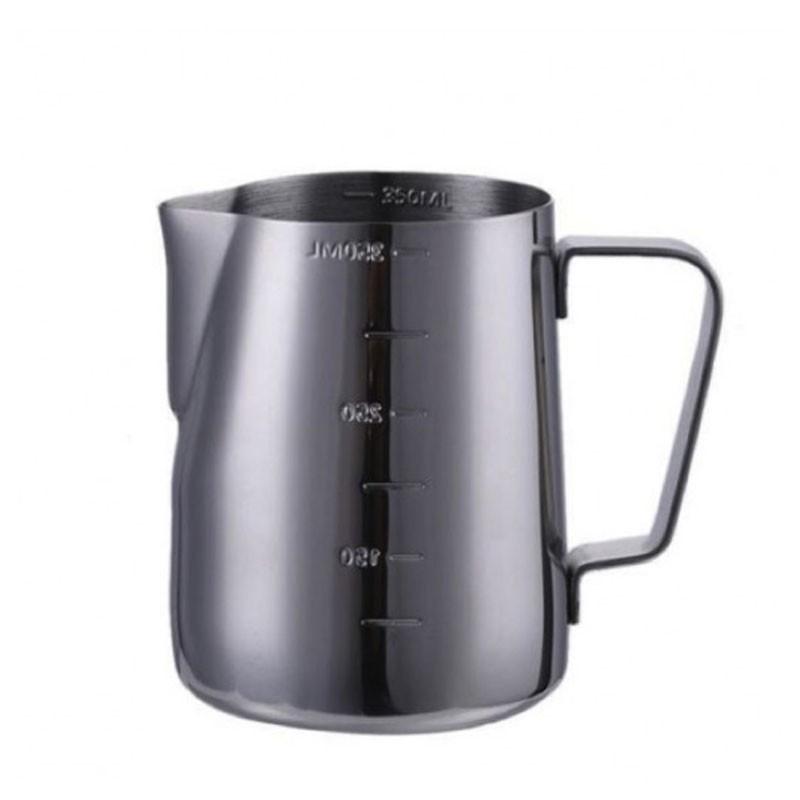 Milk Jug NEGRU - RADAT 600ml / Cana Metalica pt Lapte