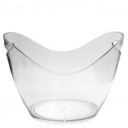 """M"" size - CLEAR - Plastic Wine / Champagne Cooler, 3.5L"