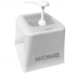 Mayonnaise Pump Dispenser, 2500ml