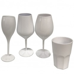 Long Drink glass 400ml - White Polycarbonate (GRANITY)