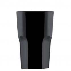 Long Drink glass 400ml - Black Polycarbonate (GRANITY)