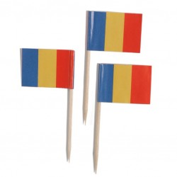 Decorative Toothpicks - Romanian Flag, 144pcs /set