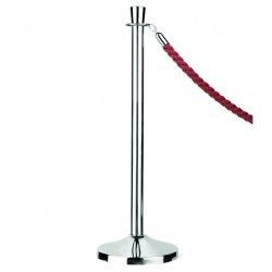 Crowd Control (Barrier post) - Pillar with Cylinder Top, 95cm
