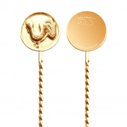 "GAZ REGAN ""NEGRONI FINGER Stirrer"" - Gold Plated, Bar Spoon"