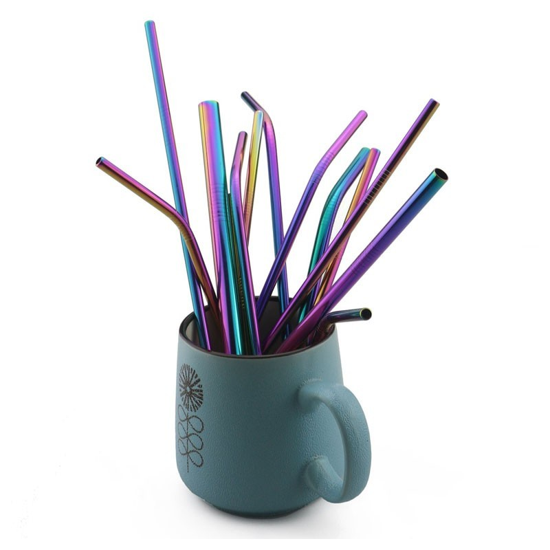Metal Straw - CHAMELEON, Reusable (Bent)