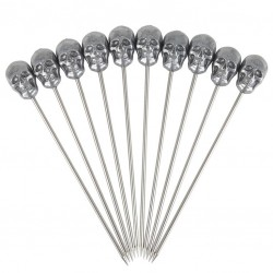 SKULL - Cocktail Garnish Pins- 10pcs, 11cm