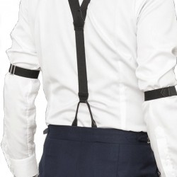 Shirt Bracelets [THE BARS] Elastic (BLACK / RED)