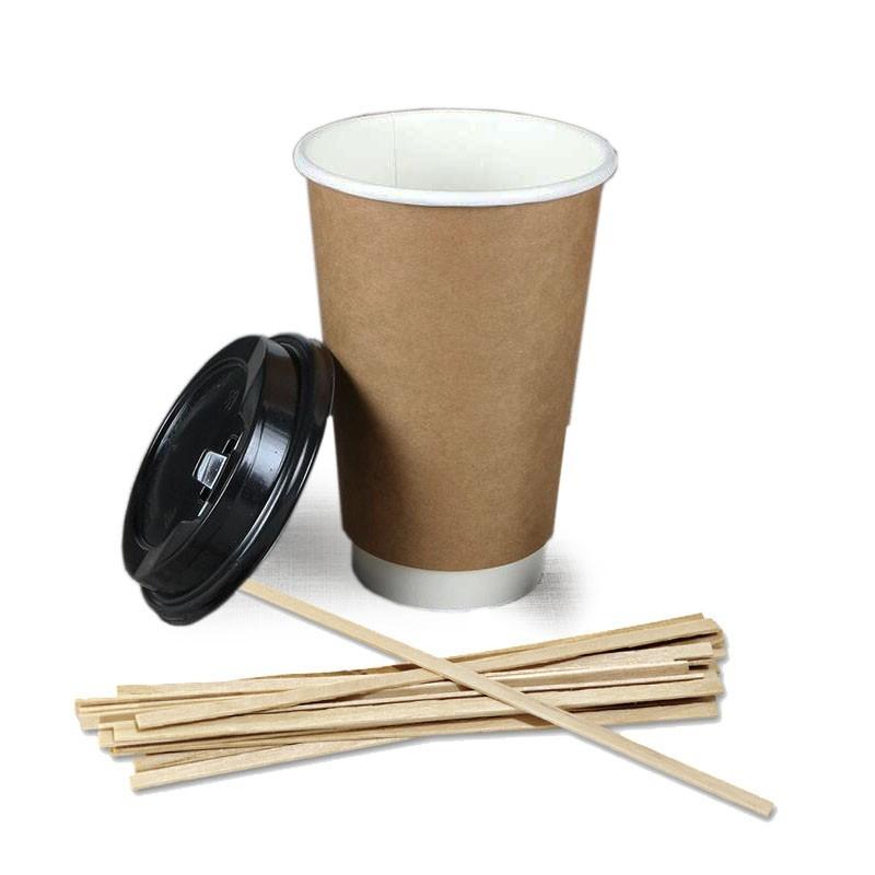 Palete Amestecare Cafea - LEMN, 1000buc