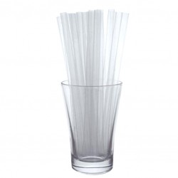 Clear Thick Straw, 500pcs