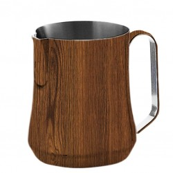 Milk Jug WOOD type, 500ml - Barista Pitcher
