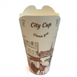 Take Away Paper Cups - 12oz FOLDABLE LID, Disposable (40pcs)