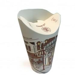 Pahare Carton - 12oz CAPAC PLIABIL, de Unica Folosinta (40buc)