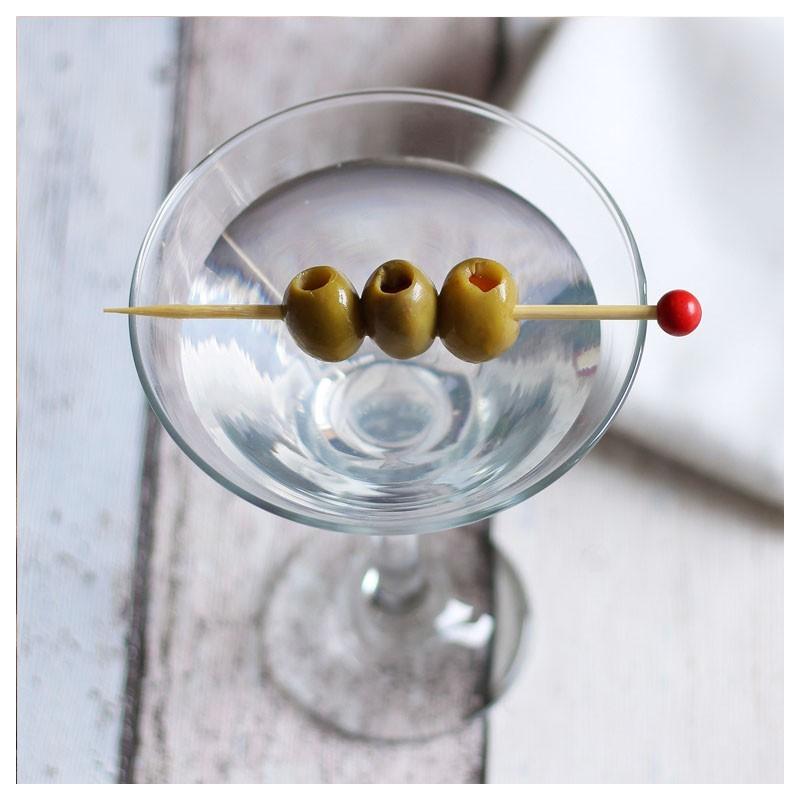 Scobitori SFERE ROSII, 24buc - Decor Cocktail