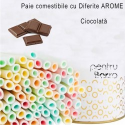 Edible Drinking Straws - CHOCOLATE Flavor