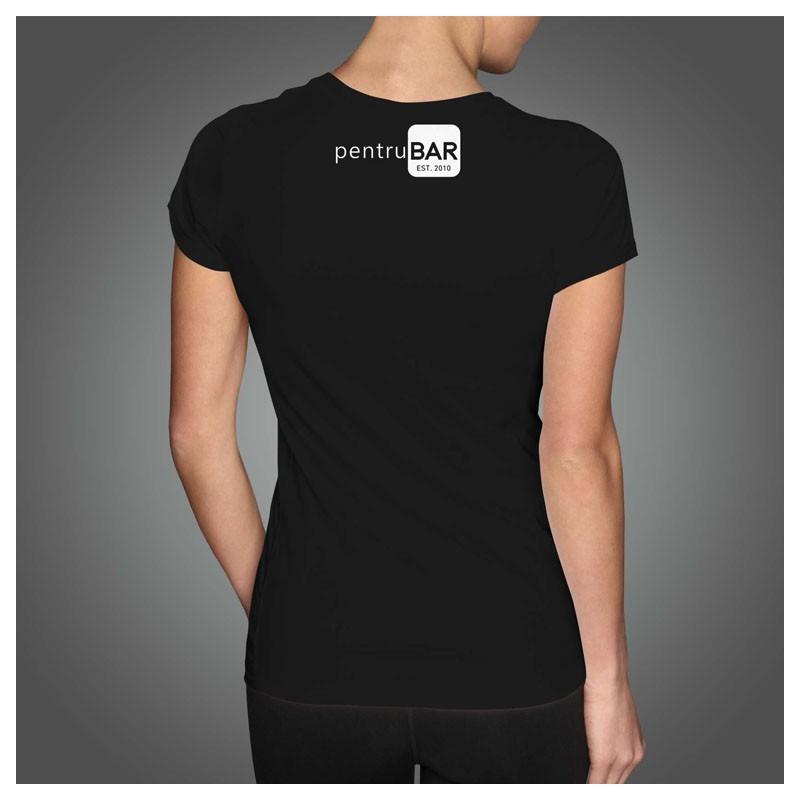 T-Shirt - BARTENDER Design (Female) logo pentruBAR