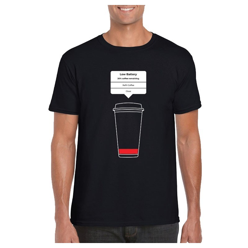 T-Shirt - LOW BATTERY Design (Male)