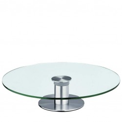 Rotative Cake Plate , Ø 30cm (Glass & Metal)