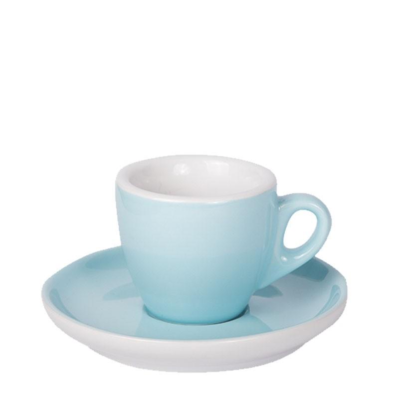 Set  ESPRESSO (Cup & Plate) - BLUE Porcelain, 55ml