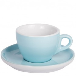 Set CAPPUCCINO (Cup & Plate) - BLUE Porcelain, 160ml