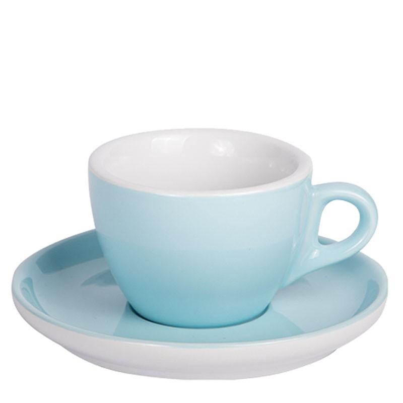 Set CAPPUCCINO (Cup & Plate) - BLUE Porcelain, 160ml