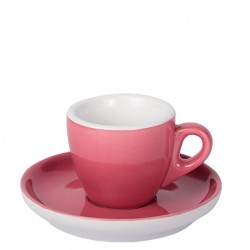 Set ESPRESSO (Cup & Plate) - OVEN RED Porcelain, 55ml