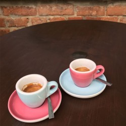 Set  ESPRESSO (Cup & Plate) - BLUE Porcelain, 55ml
