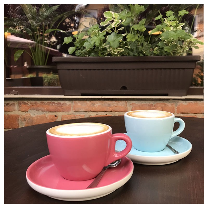 Set Cappuccino Albastru - Rosu