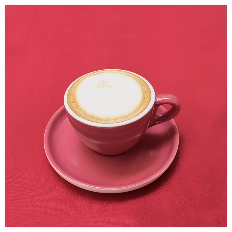 Set CAPPUCCINO (Cup & Plate) - OVEN RED Porcelain
