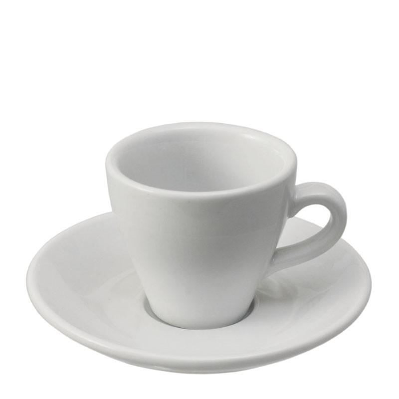 Set  ESPRESSO (Cup & Plate) - WHITE Porcelain, 90ml