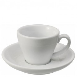 Set CAPPUCCINO (Cup & Plate) - White Porcelain, 180ml