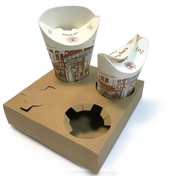 Take Away Cup Holder (KRAFT) - for 4 cups