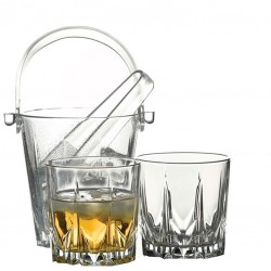 Ice Bucket KARAT with Tong (Glass)