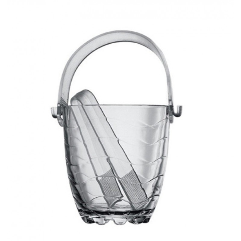 TOROS - Ice Bucket (from Glass, with Tong) 53798