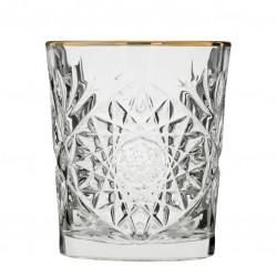 """Gold Rim"" - HOBSTAR Rocks glass, 355ml (LIBBEY)"