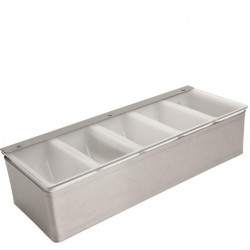 Fruit Tray / Condiment Holder - Metal, 5 Comp.