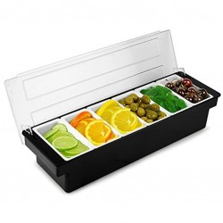 Fruit Tray / Condiment Holder - Plastic, 6 Comp.