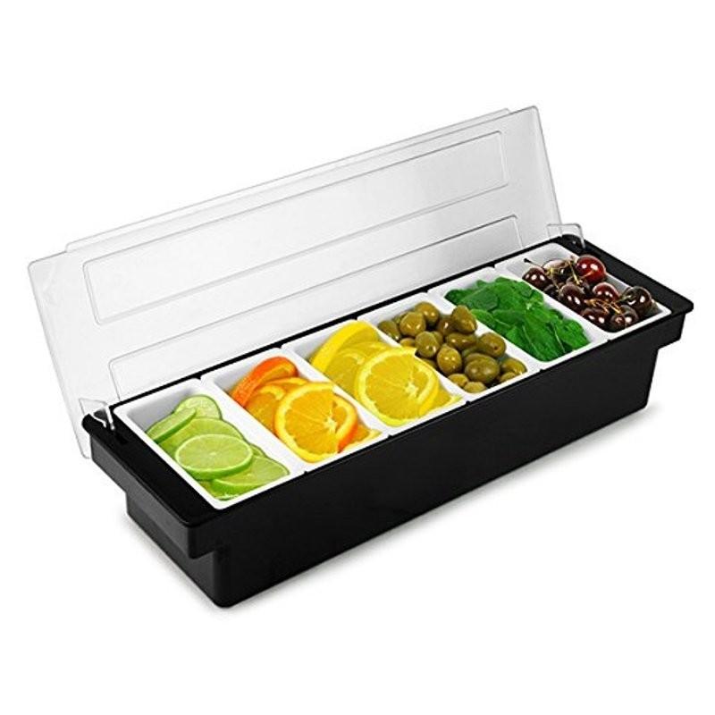 Fruit Tray / Condiment Holder - Plastic, 6 Comp. 3766