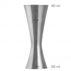 Jigger AERO 20 /40 ml, Simplu (UrbanBAR) - Masura BAR, din Metal
