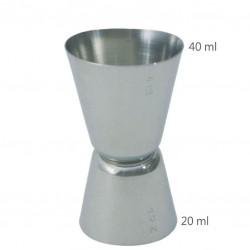 Jigger CLASIC 20 /40 ml - Masura BAR, din Metal