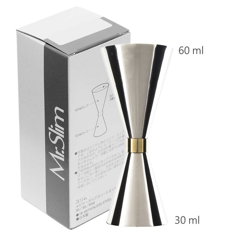Jigger Mr SLIM 30 /60ml (ORIGINAL) - Masura Bar, din Metal 01389