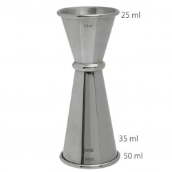 Jigger GINZA 25 /50 ml, Simple (MEZCLAR)