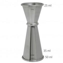 Jigger GINZA 25 /50 ml, Simplu (MEZCLAR) - Masura BAR, din Metal